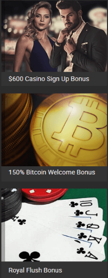 There are many provided bonus offers at Bodog Casino
