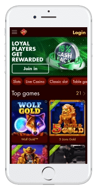 The mobile version of Box24 casino is optimized for Android, iPhone, and iPad