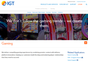 IGT provide casino, bingo and sport betting software solutions