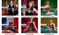 What kind of Live Games are available at Mansion Casino?