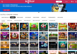 Slots.lv provide more than 400 high quality casino games