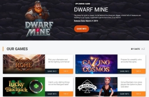 Yggdrasil gaming provide slots, lottery, bingo and card games for online casinos